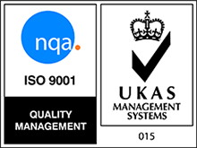 ISO 9001 Reg UKAS Quality Management logo